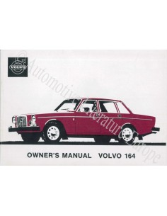 1974 VOLVO 164 OWNER'S MANUAL ENGLISH