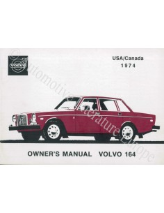 1974 VOLVO 164 OWNER'S MANUAL ENGLISH USA/CANADA