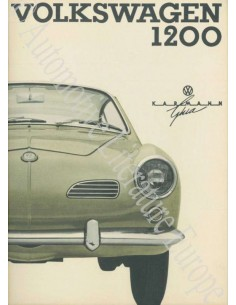 1964 VOLKSWAGEN KARMANN GHIA 1200 OWNER'S MANUAL GERMAN