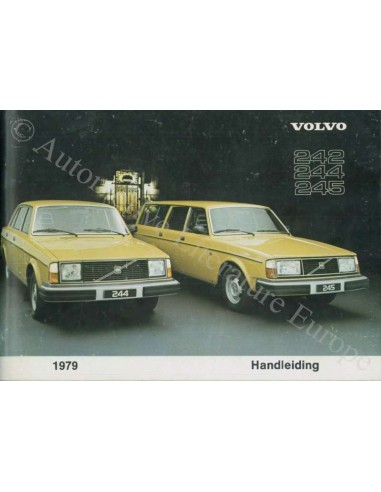 1979 Volvo 242 244 245 Owners Manual Dutch