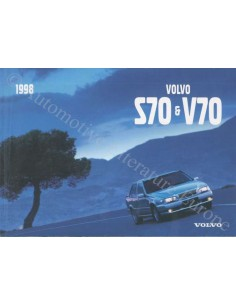 1998 VOLVO V70 / S70 OWNER'S MANUAL SWEDISCH