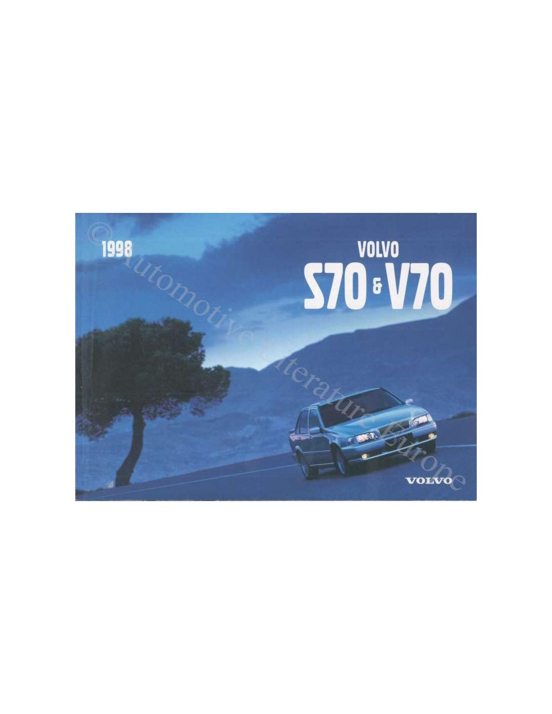 1998 volvo s70 v70 owner s manual swedisch rh autolit eu 1999 Volvo S70 1998 Volvo V70