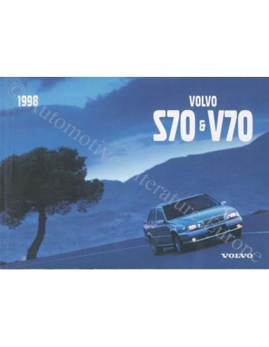 1998 VOLVO V70 / S70 INSTRUCTIEBOEKJE NEDERLANDS