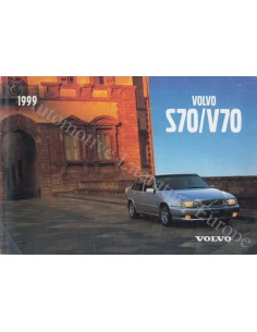 1999 VOLVO S70 / V70 OWNER'S MANUAL ENGLISH