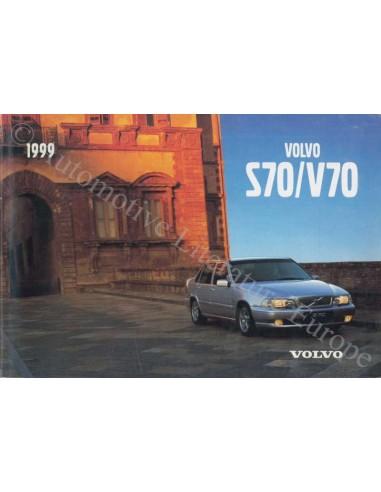 1999 VOLVO S70 / V70 INSTRUCTIEBOEKJE ENGELS