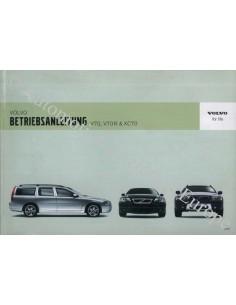 2006 VOLVO V70 R & XC70 OWNER'S MANUAL GERMAN