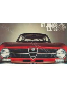 1972 ALFA ROMEO GT JUNIOR 1.3 & 1.6 BROCHURE DUTCH