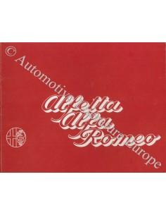 1973 ALFA ROMEO 1800 PROSPEKT NIEDERLANDISCH