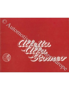 1972 ALFA ROMEO ALFETTA 1.8 BROCHURE DUTCH