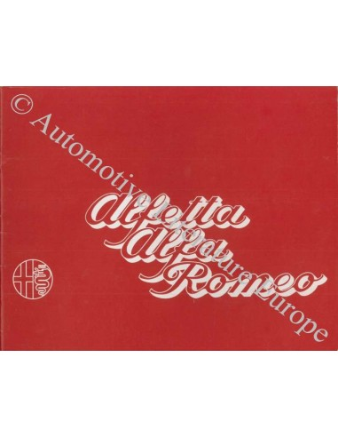 1973 ALFA ROMEO ALFETTA 1.8 BROCHURE DUTCH