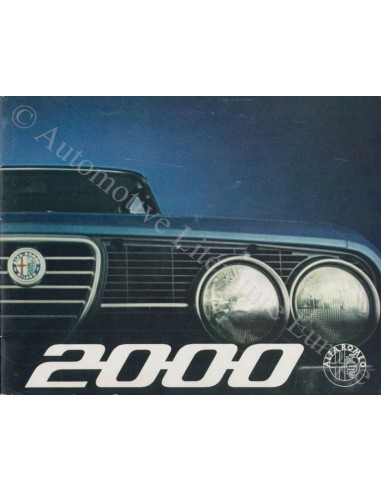 1971 Alfa Romeo 2000 Berlina Brochure Nederlands