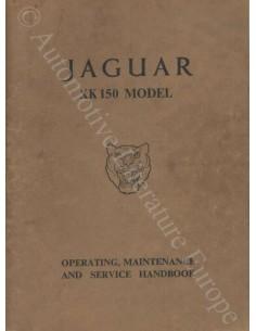 1957 JAGUAR XK 150 BETRIEBSANLEITUNG ENGLISCH