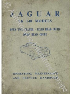 1954 JAGUAR XK140 OWNER'S MANUAL ENGLISH