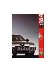 1991 ALFA ROMEO 164 2.0 TURBO V6 BROCHURE ITALIAANS