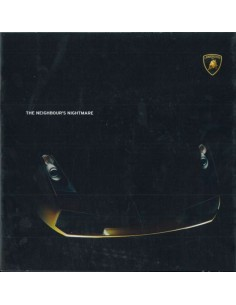 2005 LAMBORGHINI GALLARDO BROCHURE ENGLISH