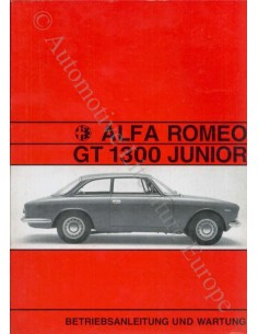 1970 ALFA ROMEO GT JUNIOR 1300 OWNER'S MANUAL GERMAN