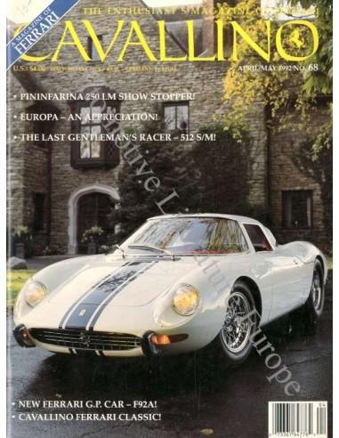 1992 FERRARI CAVALLINO MAGAZINE USA 68