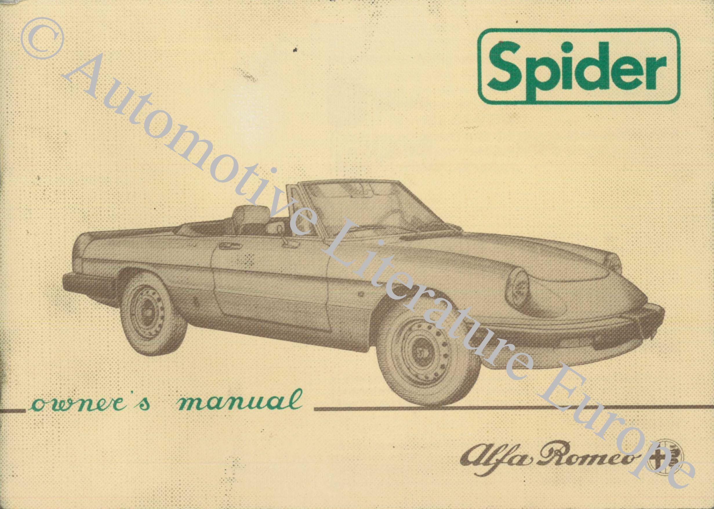 1984 alfa romeo spider owners manual handbook english1984 alfa romeo spider  owners manual handbook english jpg