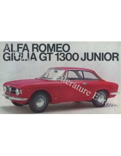 1969 ALFA ROMEO GT 1300 JUNIOR BROCHURE ITALIAN