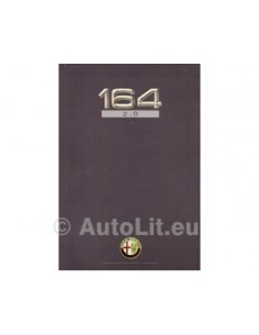 1991 ALFA ROMEO 164 2.0 TWIN SPARK BROCHURE NEDERLANDS