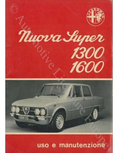 1974 ALFA ROMEO GIULIA NUOVA SUPER 1300 1600 INSTRUCTIEBOEKJE ITALIAANS