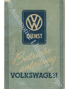 1952 VOLKSWAGEN BEETLE OWNER'S MANUAL GERMAN