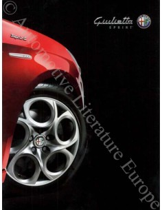 2014 ALFA ROMEO GIULIETTA SPRINT BROCHURE DUTCH