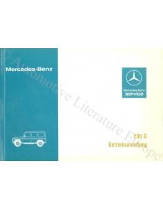 1979 MERCEDES BENZ G 230 KLASSE BETRIEBSANLEITUNG DEUTSCH