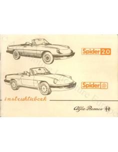 1986 ALFA ROMEO SPIDER INSTRUCTIEBOEKJE NEDERLANDS