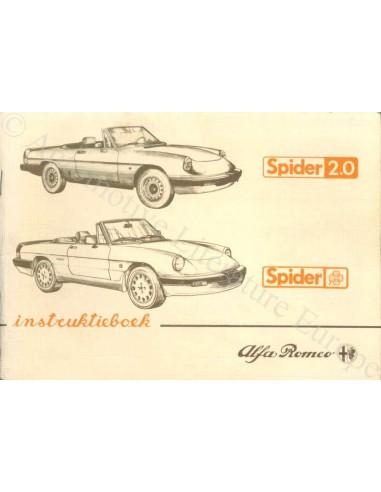 1986 ALFA ROMEO SPIDER OWNER'S MANUAL DUTCH