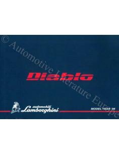 1998 LAMBORGHINI DIABLO BETRIEBSANLEITUNG ENGLISCH / ITALIENISCH