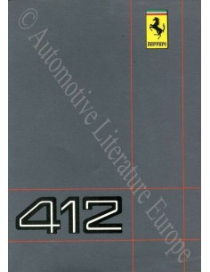 1986 FERRARI 412 OWNER'S MANUAL