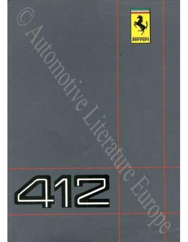 1986 FERRARI 412 INSTRUCTIEBOEKJE 417/86