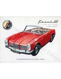 1963 FACEL VEGA FACEL III BROCHURE