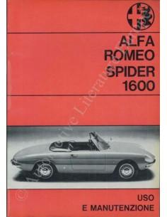 1967 ALFA ROMEO SPIDER 1600 OWNER'S MANUAL ITALIAN