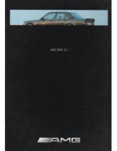 1991 MERCEDES BENZ 190E 3.2 AMG BROCHURE DUITS