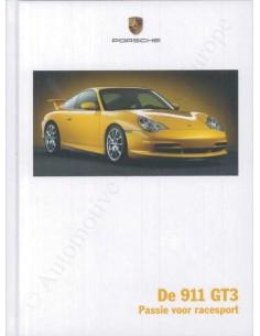 2003 PORSCHE 911 GT3 HARDCOVER PROSPEKT NIEDERLÄNDISCH