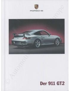 2002 PORSCHE 911 GT2 HARDCOVER BROCHURE GERMAN