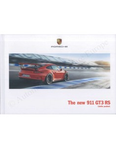 2016 PORSCHE 911 GT3 RS HARDCOVER BROCHURE ENGLISH