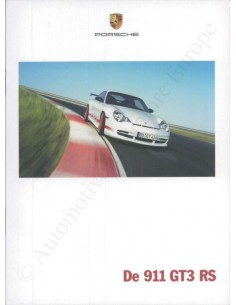 2004 PORSCHE 911 GT3 RS BROCHURE DUTCH