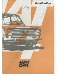 1966 FIAT 124 OWNER'S MANUAL DUTCH