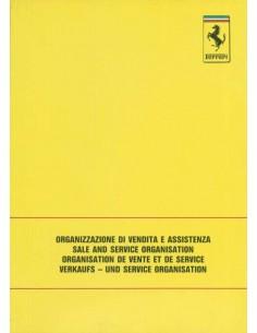 1988 FERRARI VERKAUFS - UND SERVICE ORGANISATION HANDBUCH 510/88