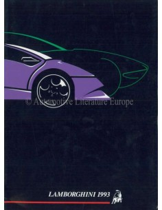 1993 LAMBORGHINI YEARBOOK ENGLISH / ITALIAN