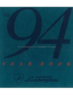 1994 LAMBORGHINI JAHRESBUCH ENGLISCH / ITALIENISCH