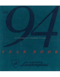 1994 LAMBORGHINI YEARBOOK ENGLISH / ITALIAN