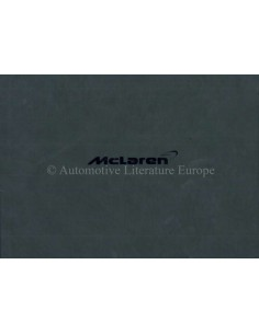 2011 MCLAREN MP4-12C HARDCOVER OWNER'S MANUAL ENGLISH