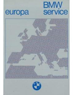 1977 BMW SERVICE DIRECTORY EUROPE HANDBOOK