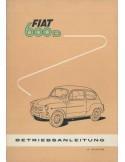 1961 FIAT 600 D OWNER'S MANUAL GERMAN