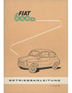 1961 FIAT 600 D BETRIEBSANLEITUNG DEUTSCH