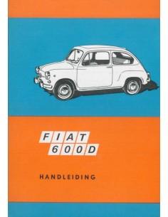 1968 FIAT 600 D OWNER'S MANUAL DUTCH